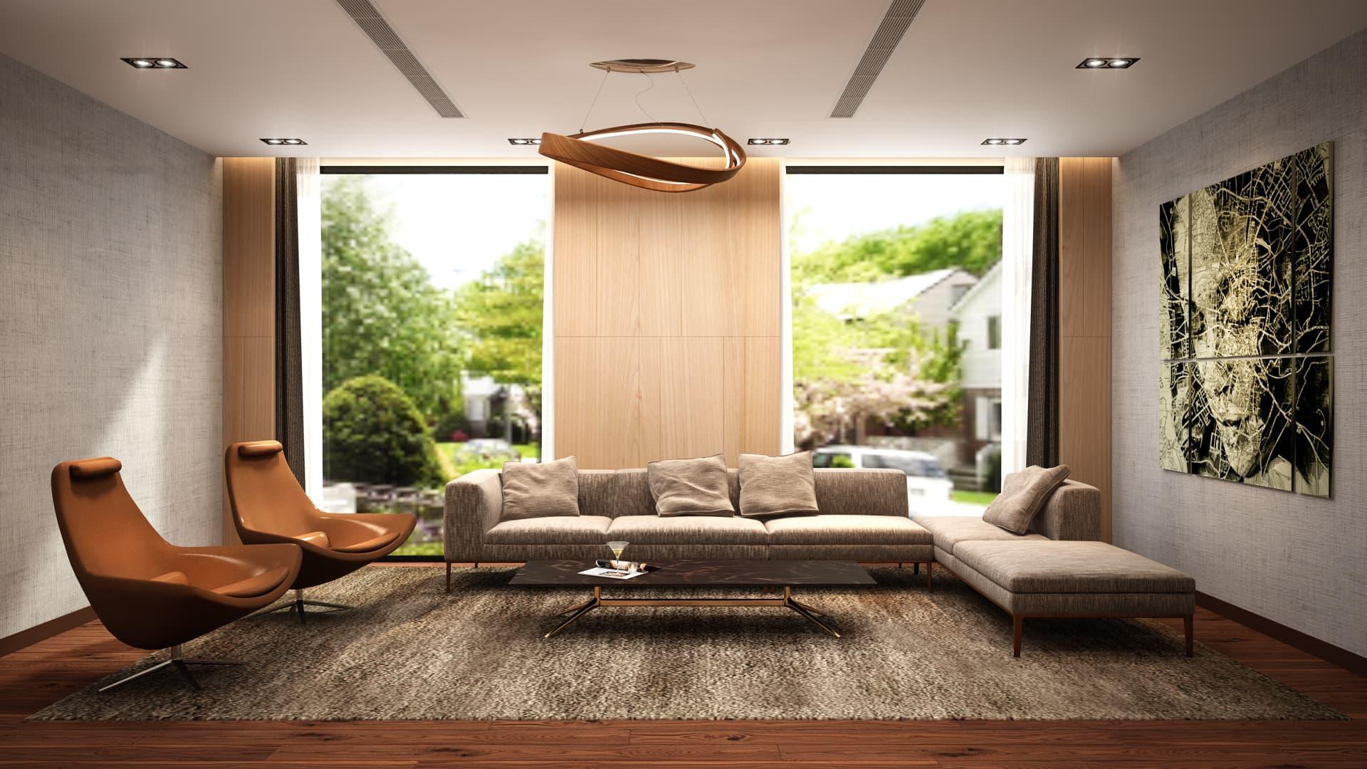 Lounge di lusso - Design & 3D Rendering