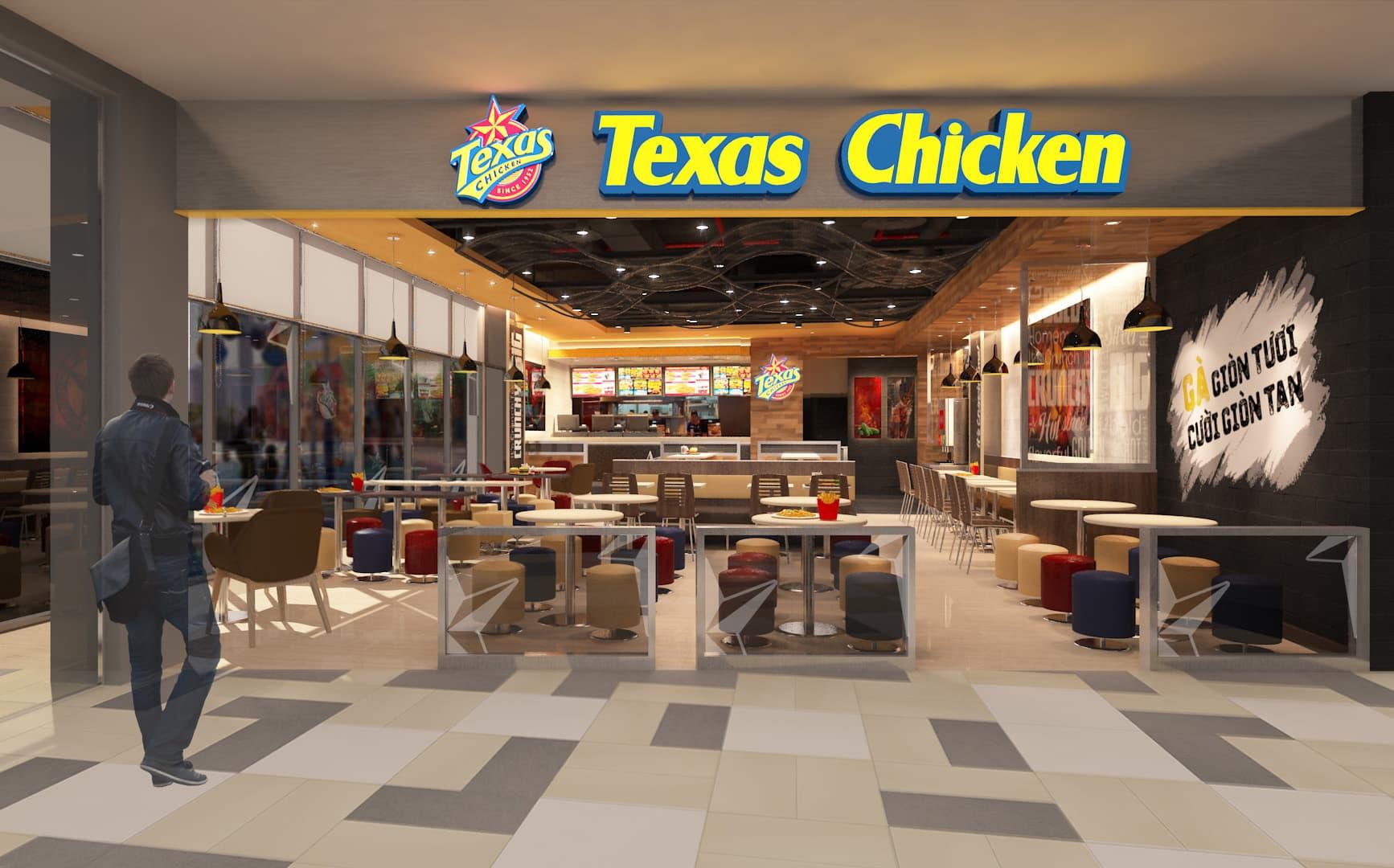 Texas Chicken - Interior Design & 3D Rendering